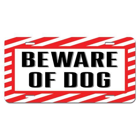 Beware of Dog - Sign Alert Warning Novelty License Plate