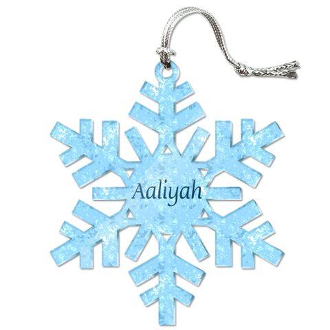 Aaliyah Personalized Snowflake Acrylic Christmas Ornament