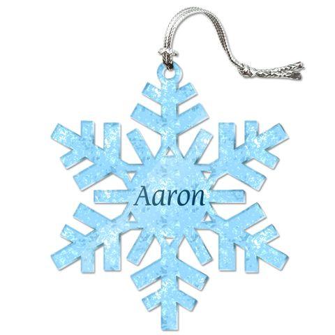 Aaron Personalized Snowflake Acrylic Christmas Ornament