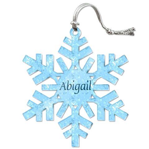 Abigail Personalized Snowflake Acrylic Christmas Ornament