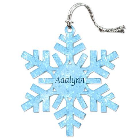 Adalynn Personalized Snowflake Acrylic Christmas Ornament