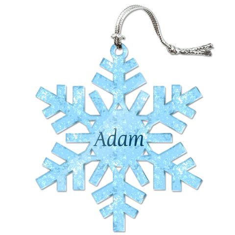 Adam Personalized Snowflake Acrylic Christmas Ornament