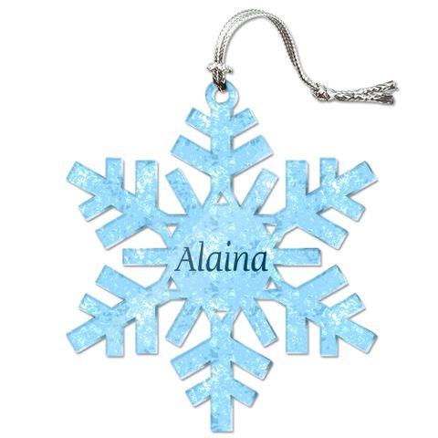 Alaina Personalized Snowflake Acrylic Christmas Ornament