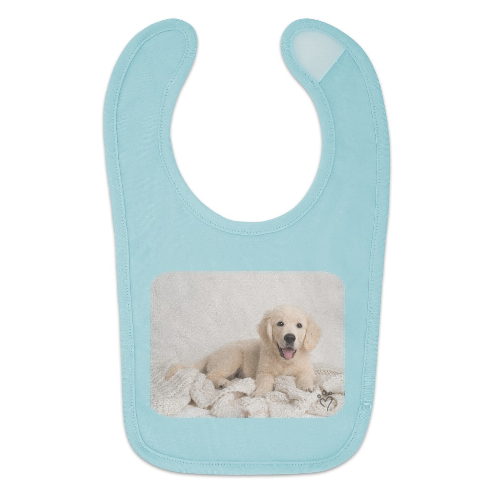 Golden Retriever Puppy Dog And Blanket Baby Bib Ebay