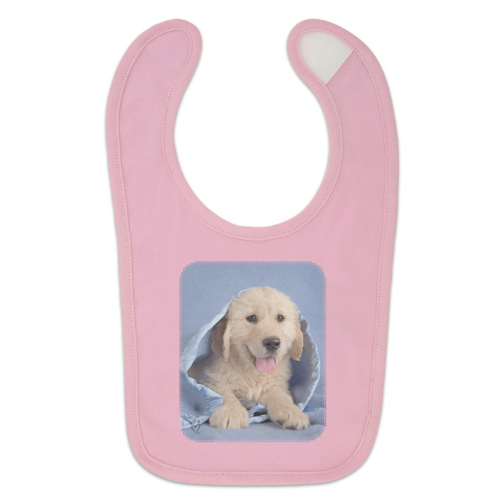 Golden Retriever Puppy Dog Wrapped In Blanket Baby Bib Ebay