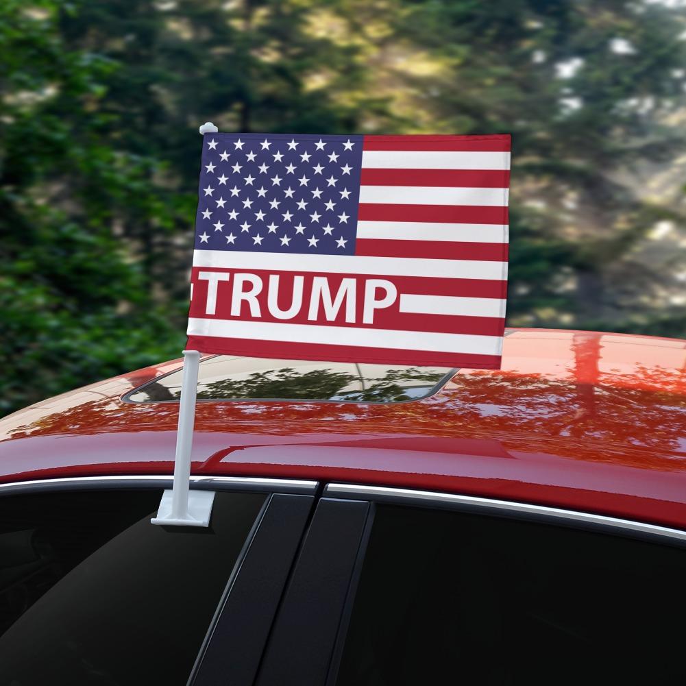 President Trump American Flag Wine Glass Charm Drink Marker