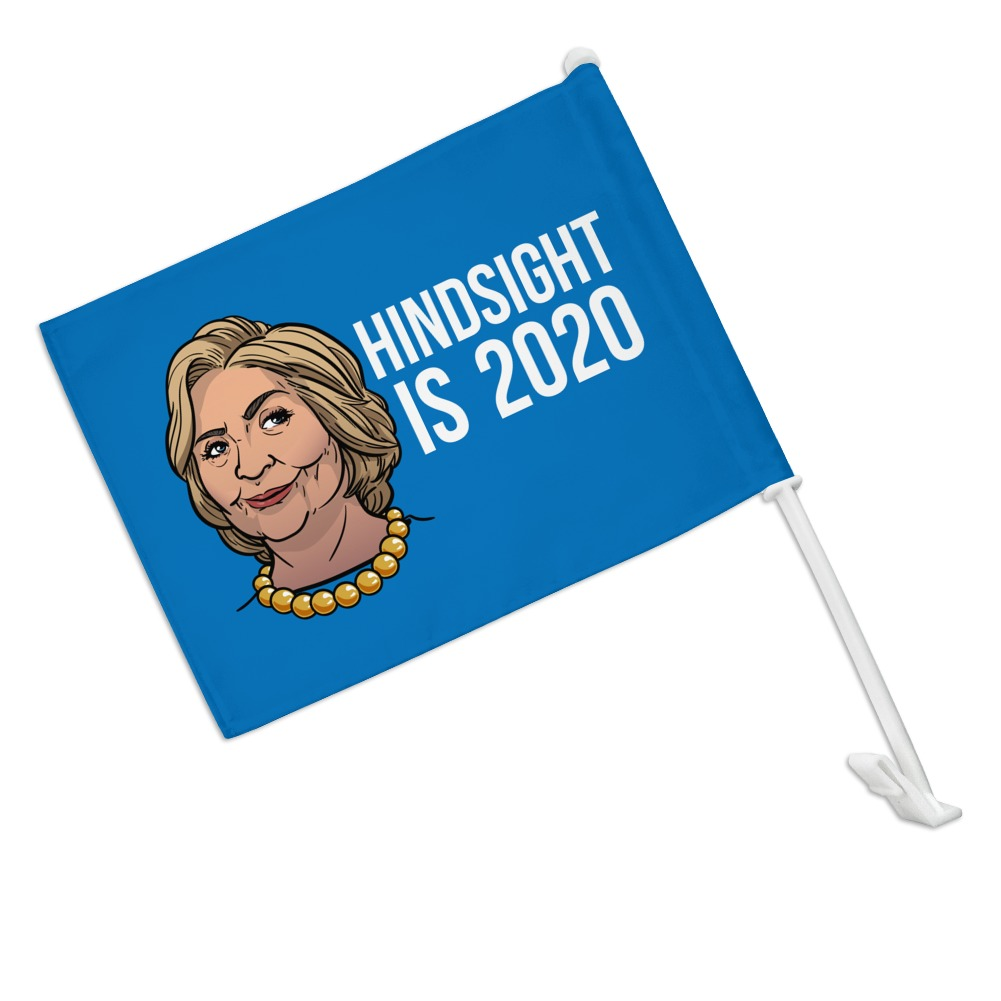 GRAPHICS /& MORE Personalized Custom 1 Line 2020 Candidate Car Truck Flag with Window Clip On Pole Holder