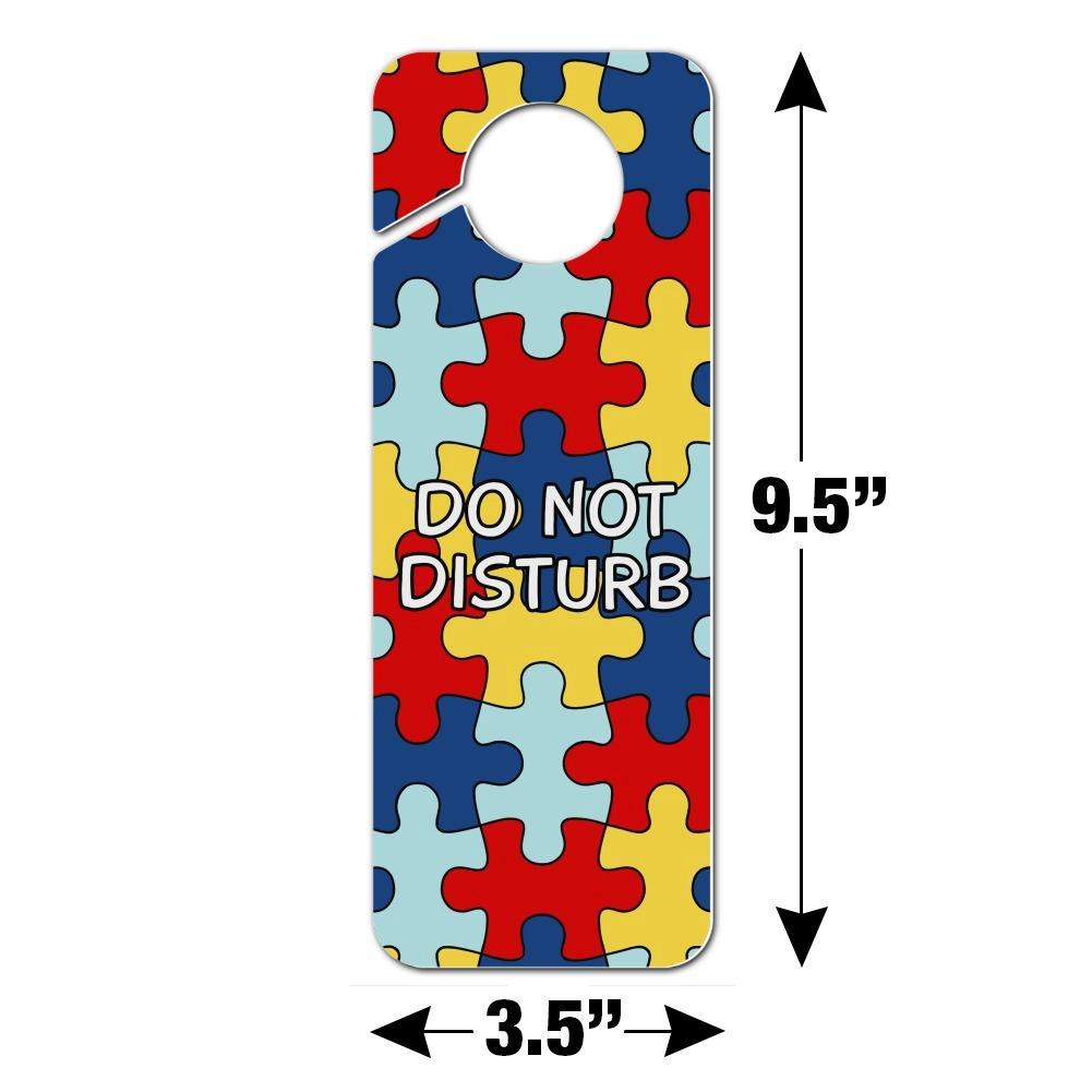 Beautiful Not Broken I Am Autistic Autism Plastic Door Knob Hanger Sign