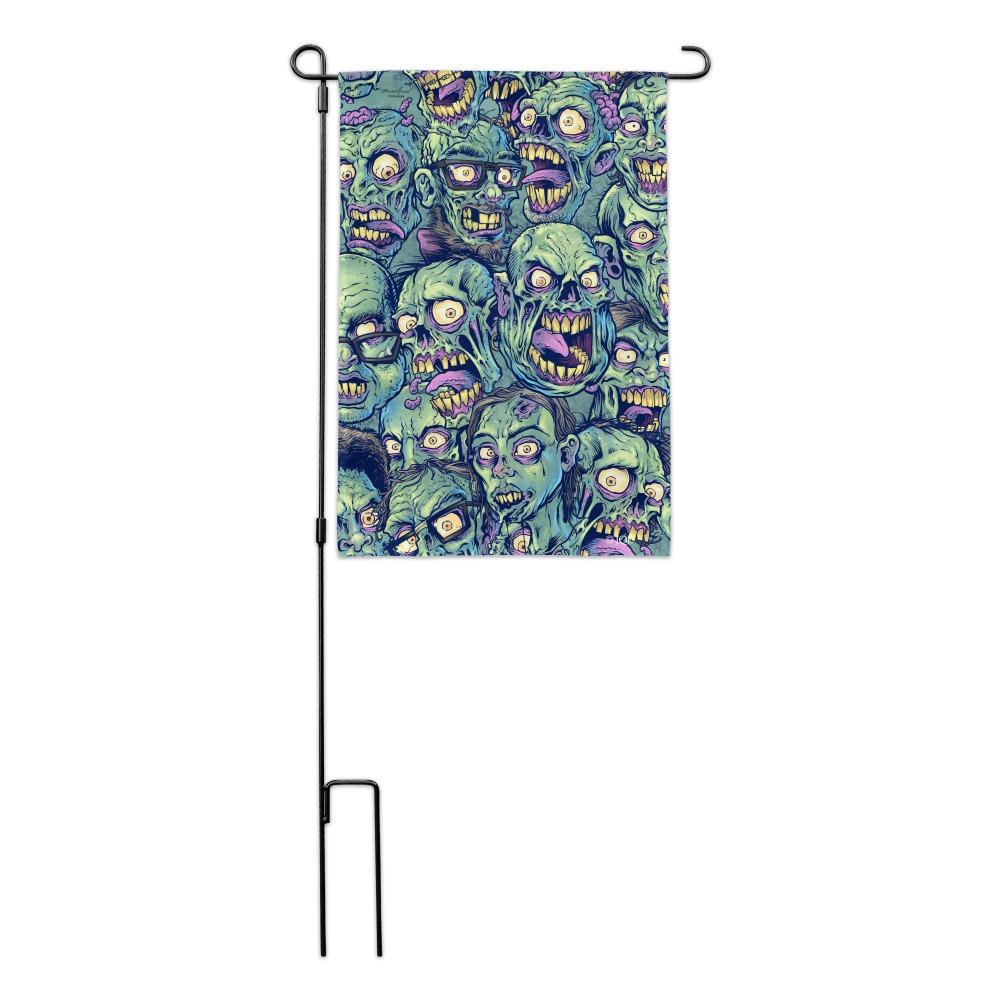 Zombie-Pattern-Dead-Corpses-Undead-Horror-Garden-Yard-Flag miniature 6