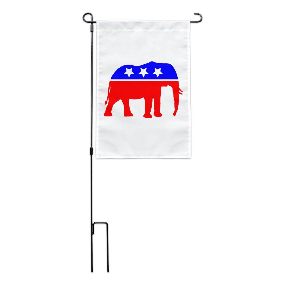 Republican Elephant GOP Conservative America Political Party Garden Yard Flag