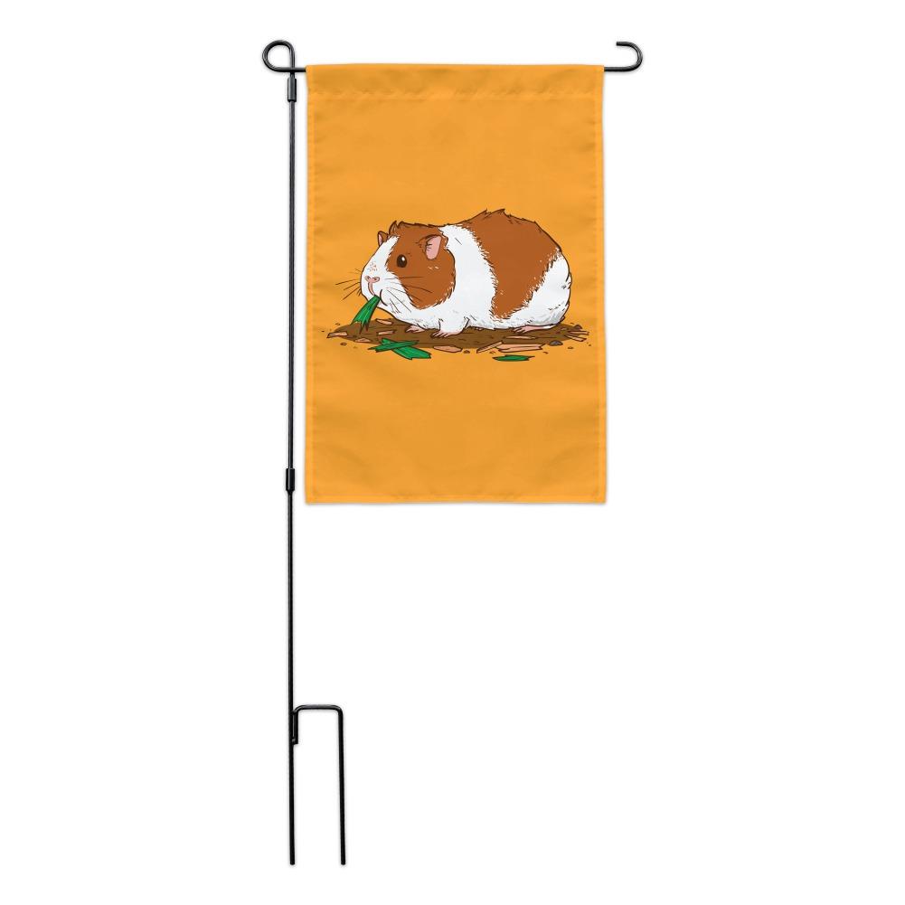 Guinea Pig Eating Garden Yard Flag