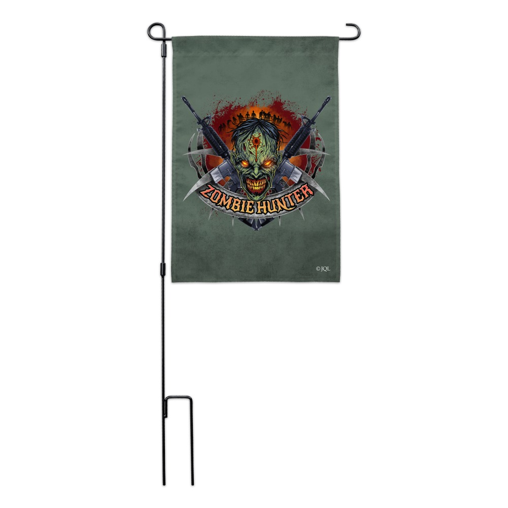 Zombie-Hunter-Undead-Rifles-Garden-Yard-Flag miniature 6