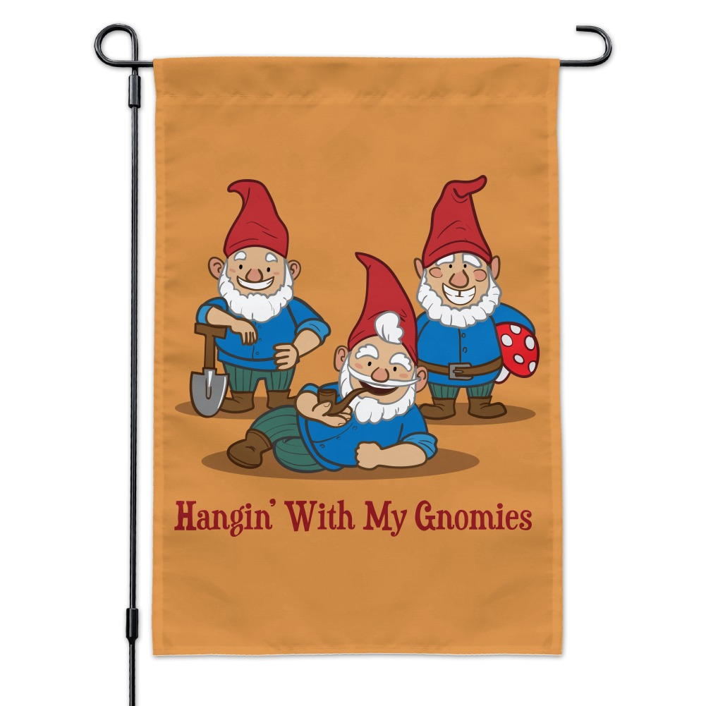 Gnome In Garden: Hanging With My Gnomies Gnomes Garden Yard Flag