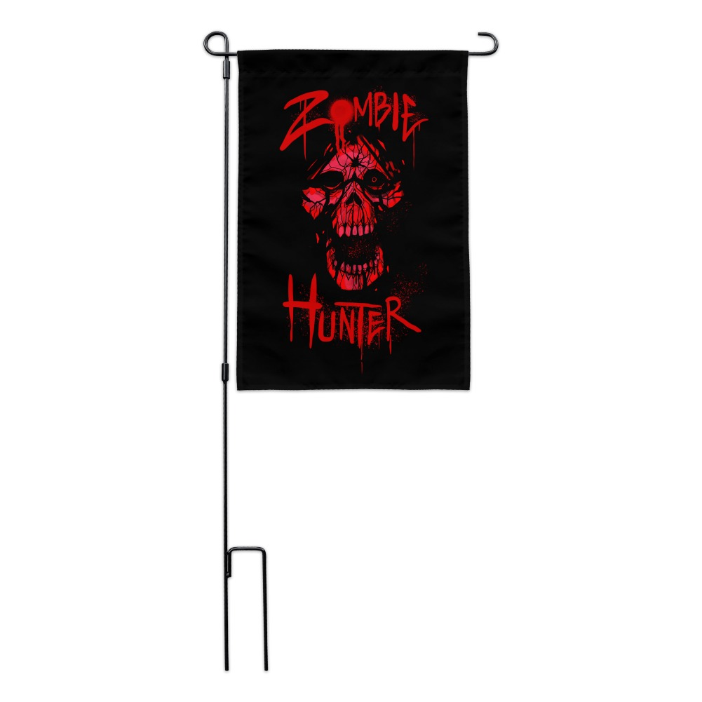 Zombie-Hunter-Red-Skull-Garden-Yard-Flag miniature 6