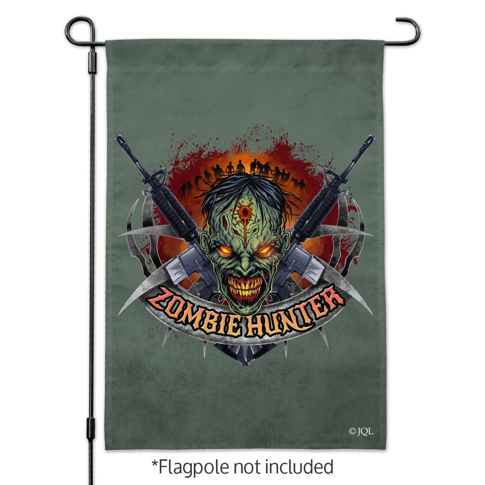 Zombie-Hunter-Undead-Rifles-Garden-Yard-Flag miniature 3