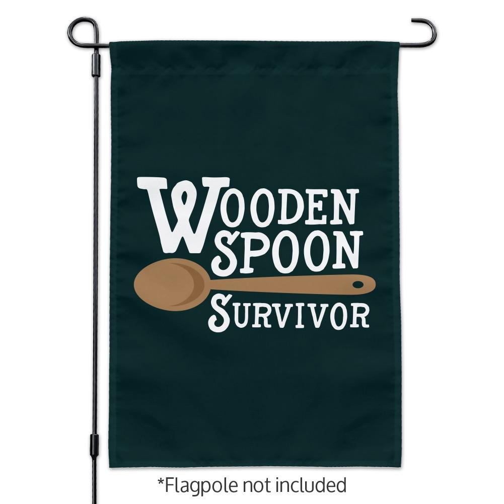 Wooden Spoon Survivor Funny Garden Yard Flag
