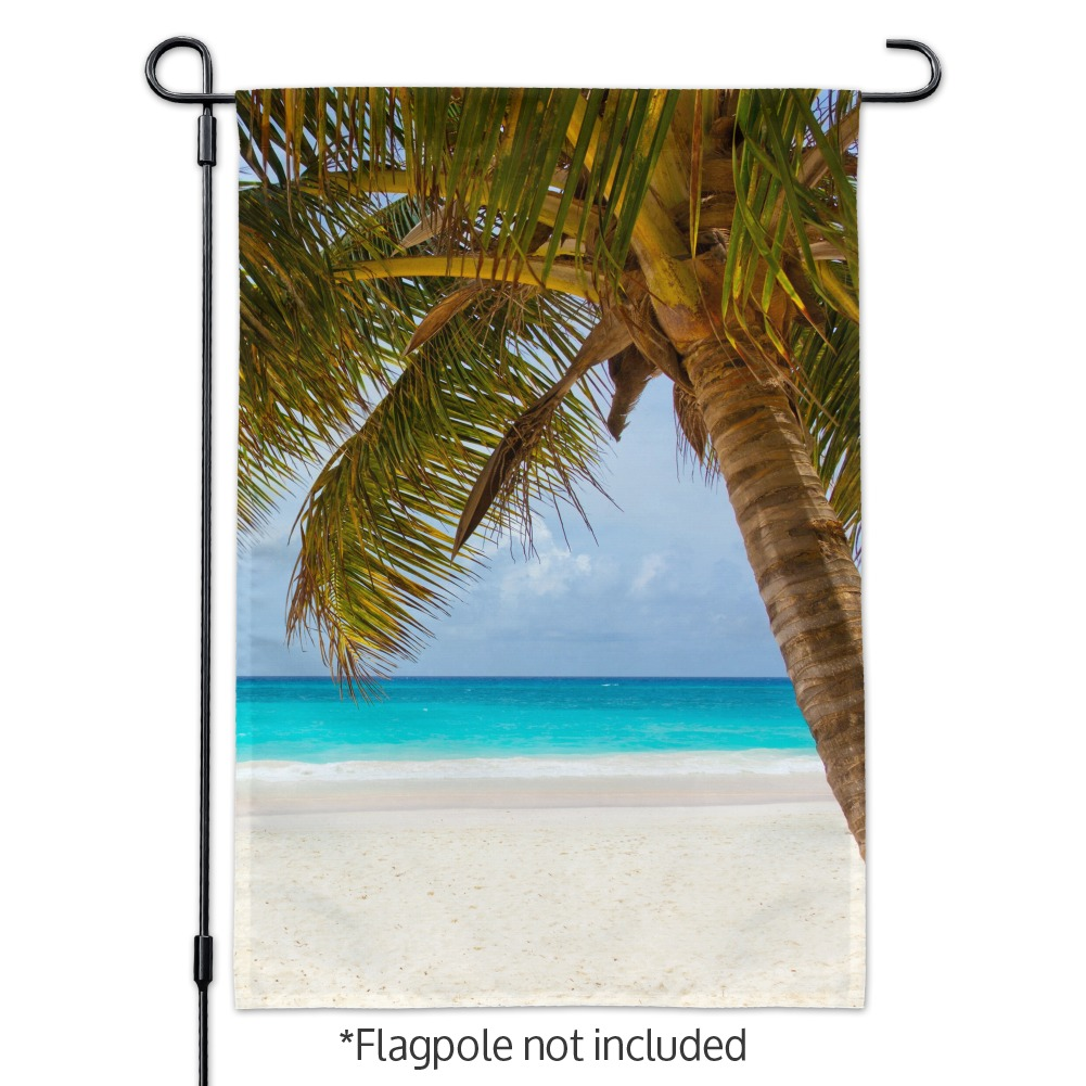 Tropical Palm Tree Ocean Beach Garden Yard Flag