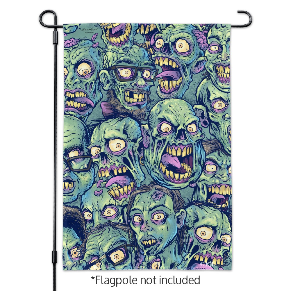 Zombie-Pattern-Dead-Corpses-Undead-Horror-Garden-Yard-Flag miniature 3