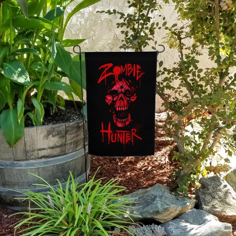 Zombie-Hunter-Red-Skull-Garden-Yard-Flag miniature 4