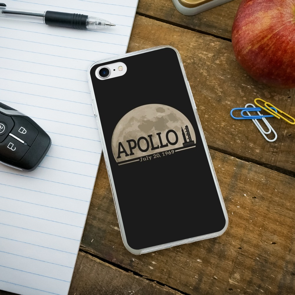 nasa apollo 11 moon with saturn v apple iphone 8 8 plus x 11 case ebay. Black Bedroom Furniture Sets. Home Design Ideas