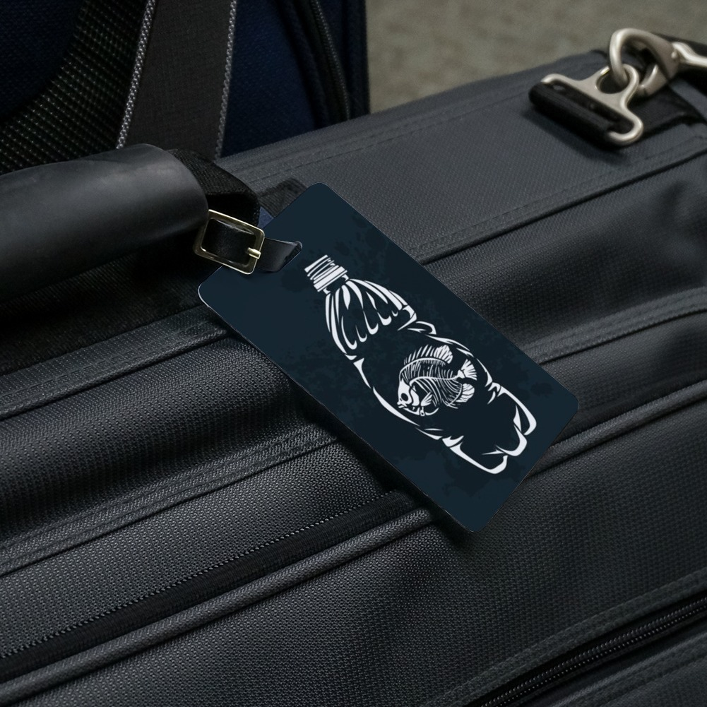 Free-2 Grate-ful Dead Bear Luggage Tag 3D Print Leather Travel Bag ID Card