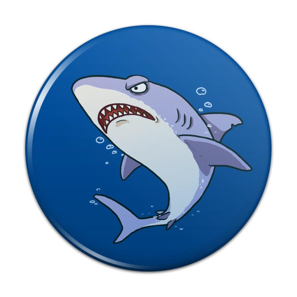 Great White Shark Cartoon in Ocean Kitchen Refrigerator Locker ...
