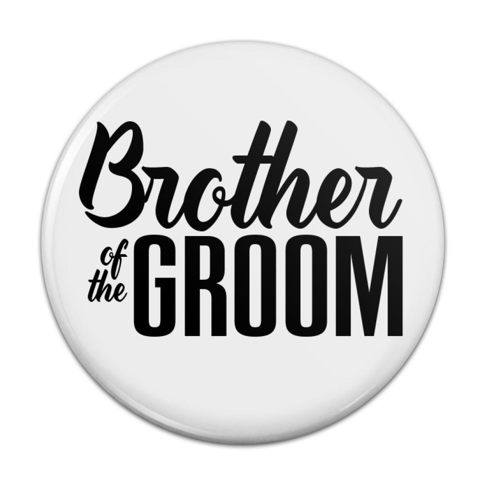 Brother of the Groom Wedding Kitchen Refrigerator Locker Button ...