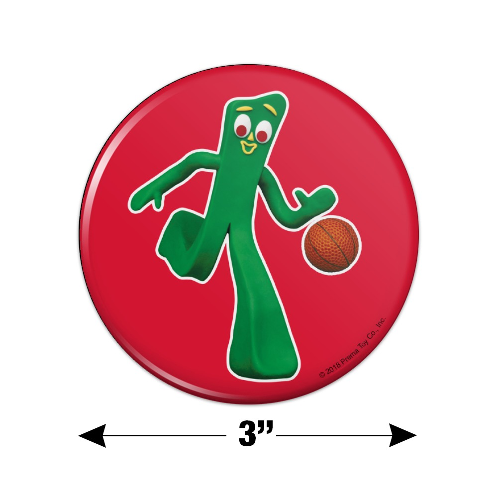 """Sporty Gumby Basketball Player Clay Art Novelty 9/"""" Flying Disc"""