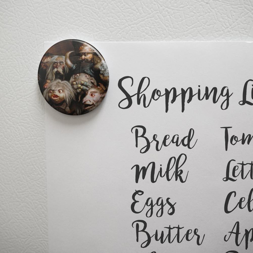 Labyrinth Group of Goblins Shocked Awe Kitchen Refrigerator Locker Button Magnet