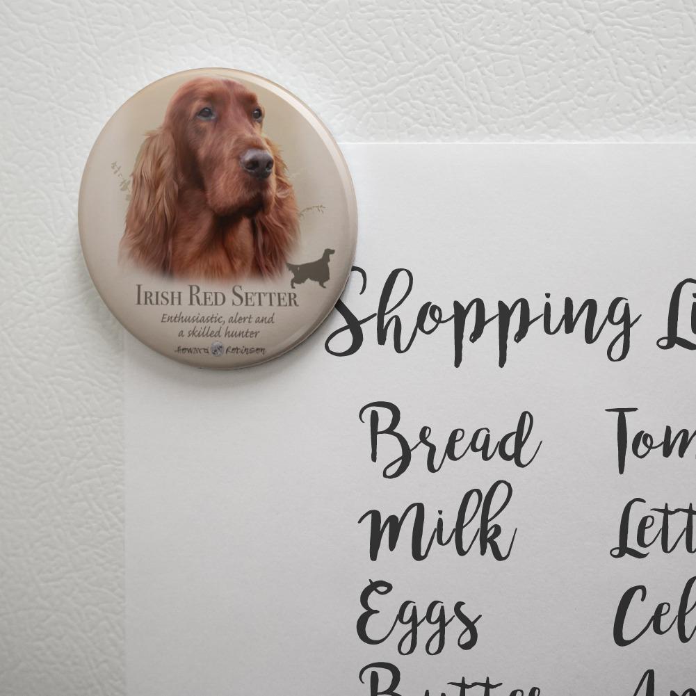 Irish Red Setter Dog Breed Kitchen Refrigerator Locker Button Magnet