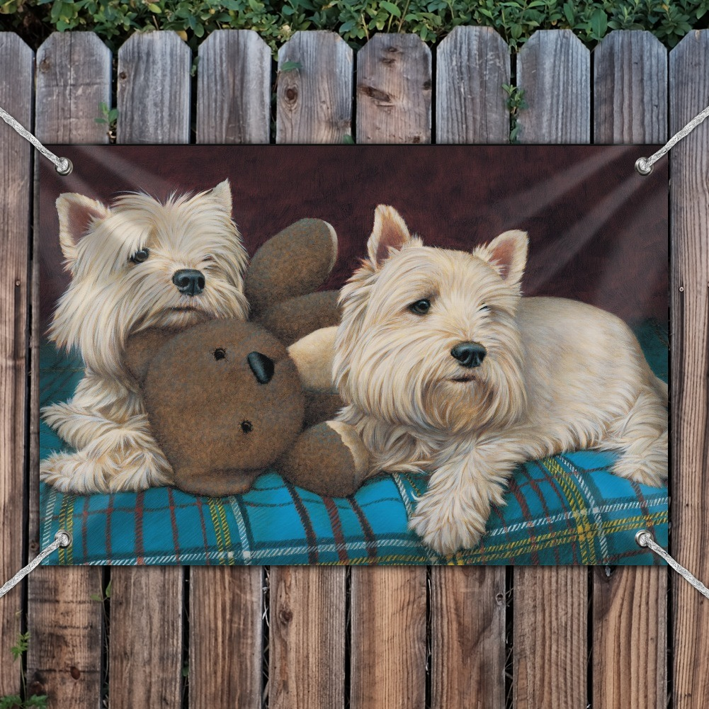 Westie West Highland White Terrier Dogs Teddy Bear Home Business Office Sign Ebay