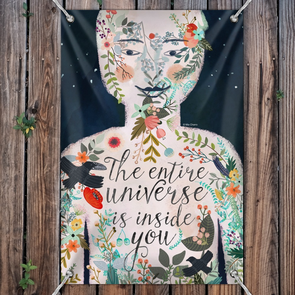 The Entire Universe is Inside You Spiritual Home Business Office Sign