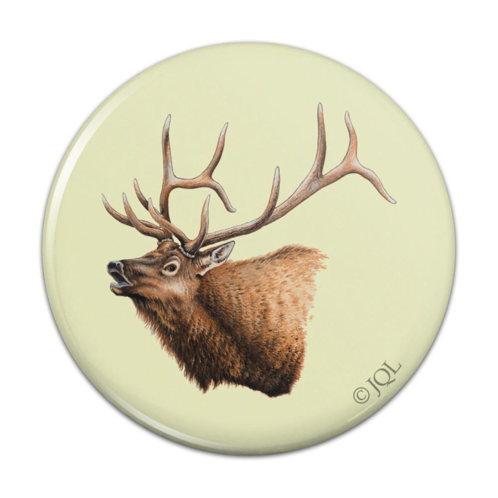 Elk Head Hunting Compact Pocket Purse Hand Cosmetic Makeup