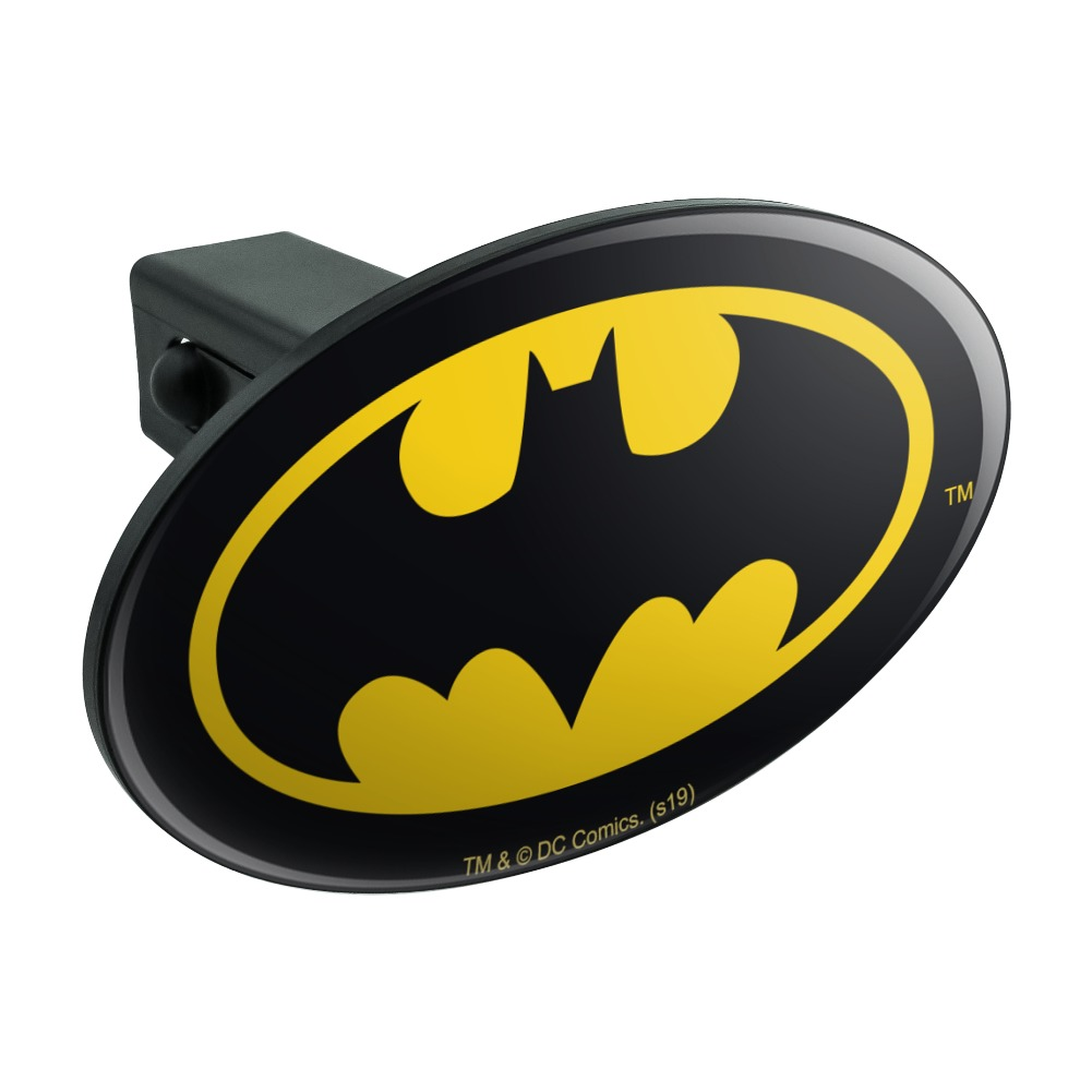 Graphics and More Justice League Movie Batman Logo Oval Tow Trailer Hitch Cover Plug Insert