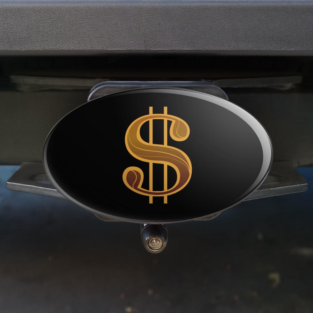Dollar-Sign-Symbol-Oval-Tow-Trailer-Hitch-Cover-Plug-Insert