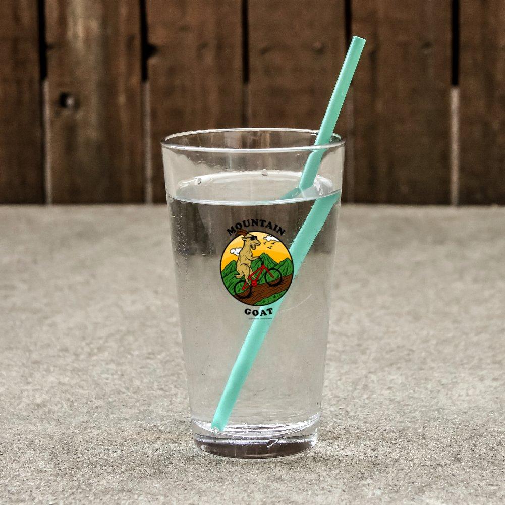 Mountain Goat Biking Funny Humor Novelty 16oz Pint Drinking Glass Tempered