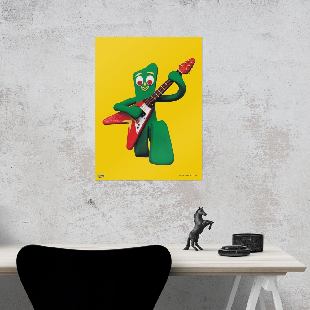 Gumby Playing Guitar Rock and Roll Home Business Office Sign | eBay