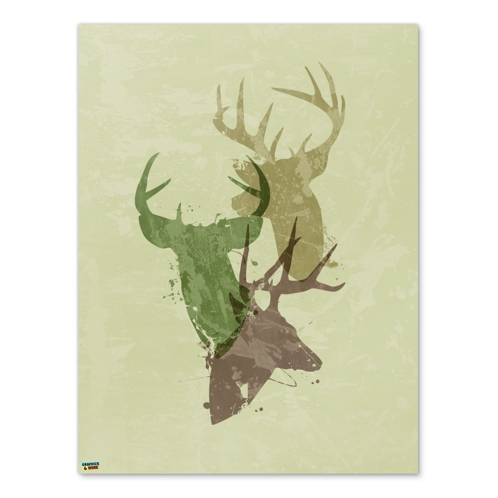 Deer Heads Trio Design Hunting Hunter Camouflage Home Business ...