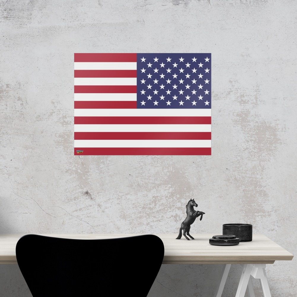 Reversed USA American Flag Red White Blue Military Home Business ...