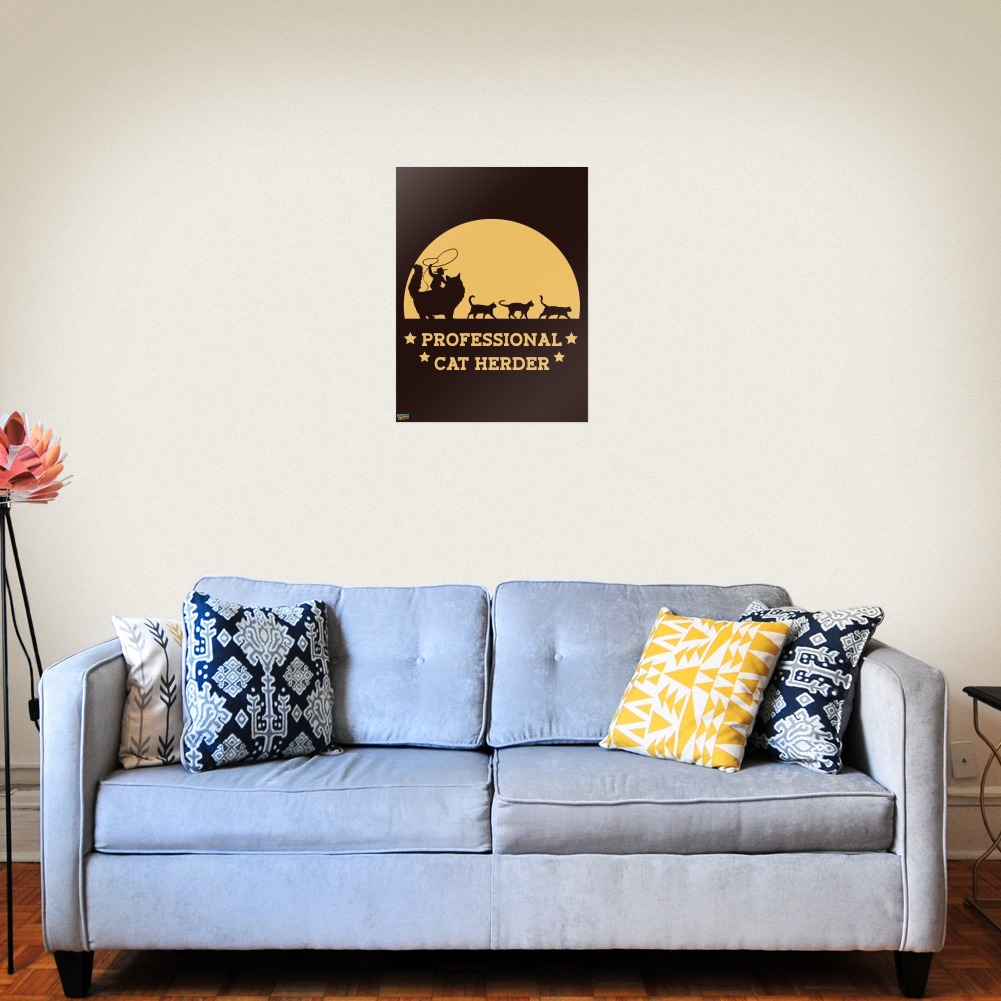 Professional Cat Herder Funny Home Business Office Sign | eBay