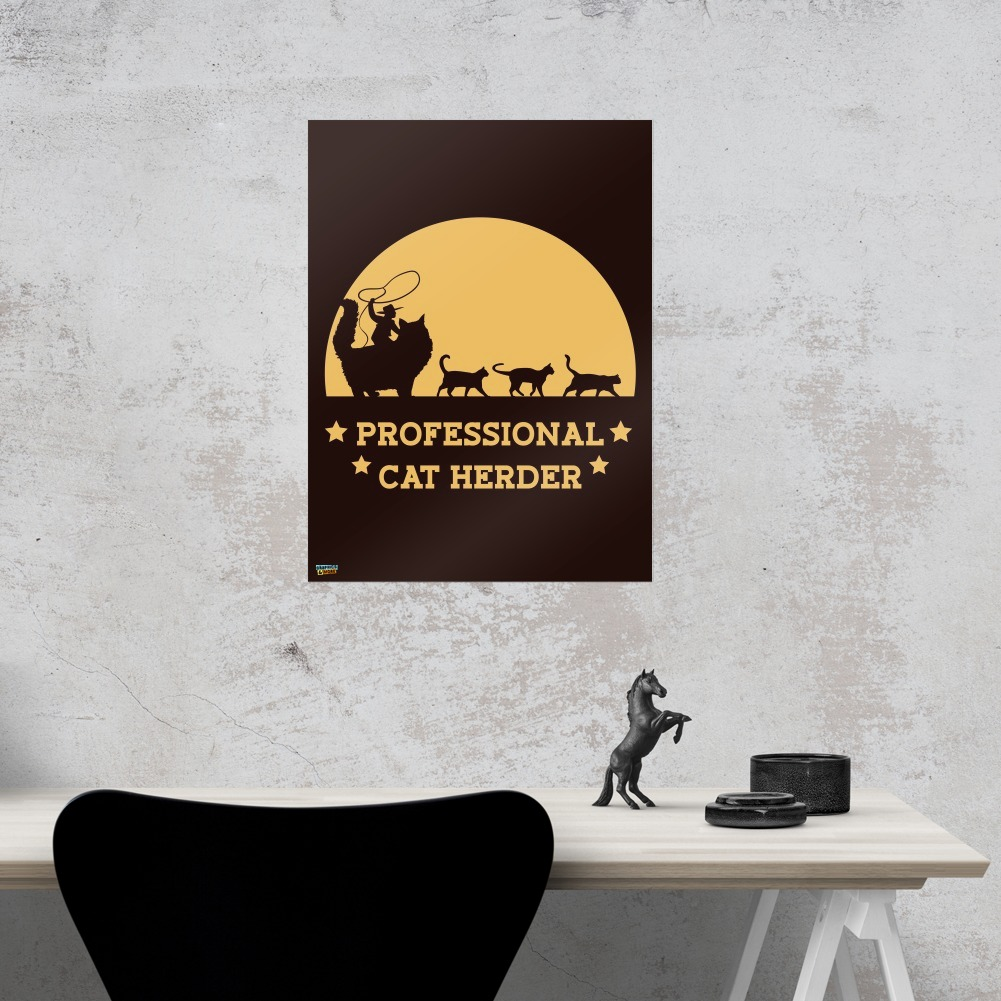 Professional Cat Herder Funny Home Business Office Sign