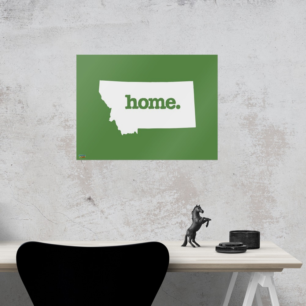 Montana MT Home State Solid Green Officially Licensed Home Business Office Sign