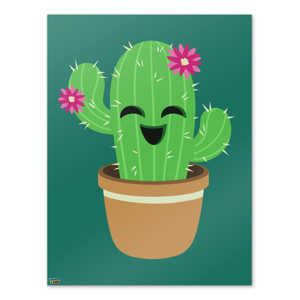 Cute Cactus In Pot With Pink Flowers Home Business Office Sign Ebay