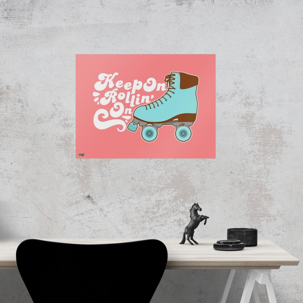 Roller Skates Derby Keep On Rolling Skating Home Business Office Sign