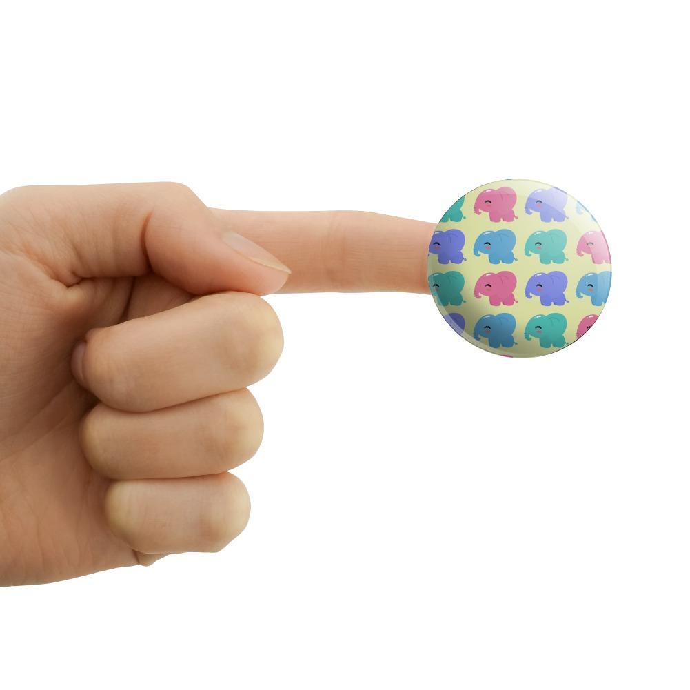Cute-Kawaii-Baby-Elephants-Pattern-Puffy-Bubble-Scrapbooking-Sticker-Set miniatuur 4