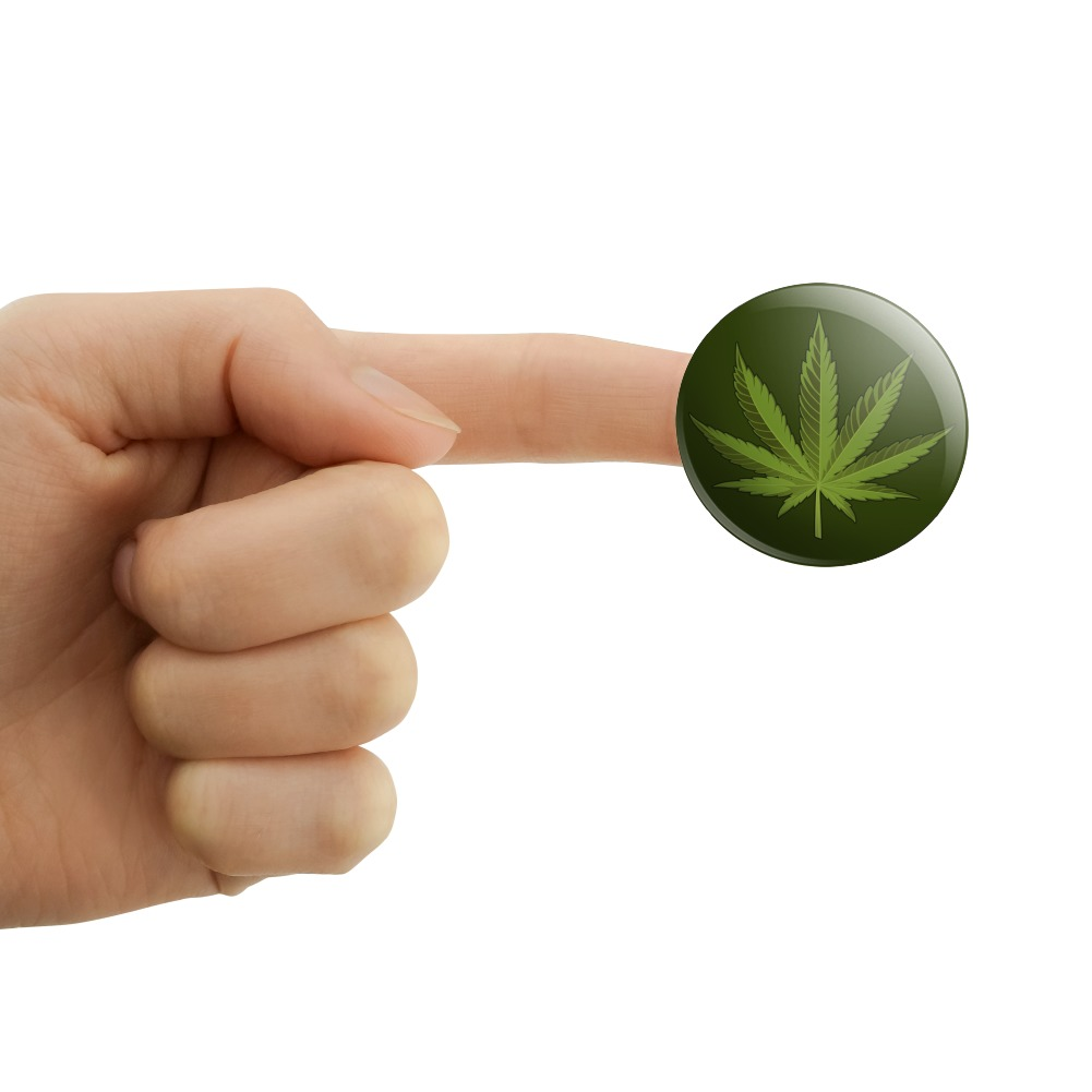 Marijuana Leaf Design Cannabis Pot Puffy Bubble Scrapbooking Sticker Set