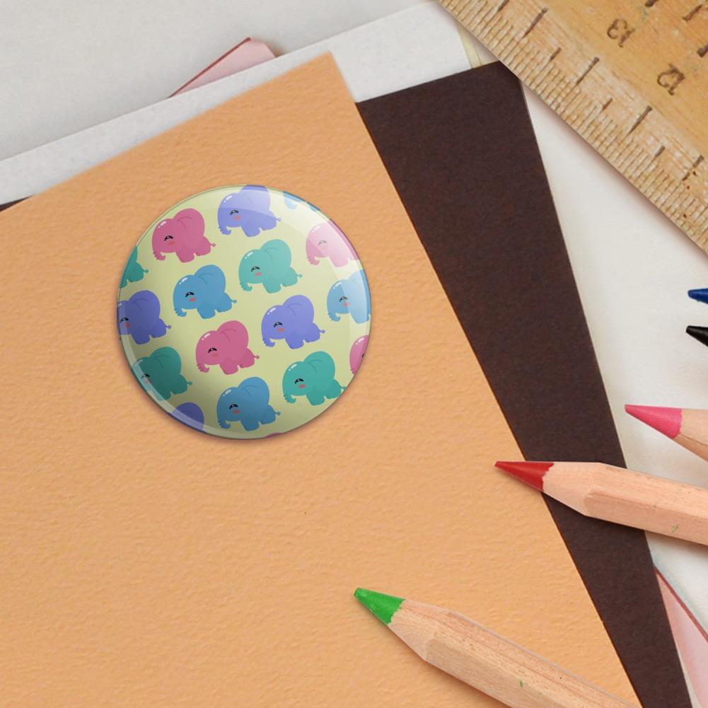 Cute-Kawaii-Baby-Elephants-Pattern-Puffy-Bubble-Scrapbooking-Sticker-Set miniatuur 3
