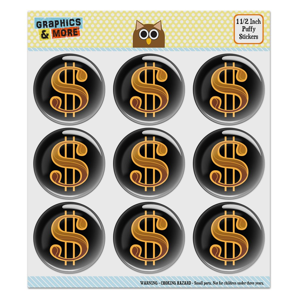 Dollar Sign Symbol Puffy Bubble Dome Scrapbooking Crafting Sticker