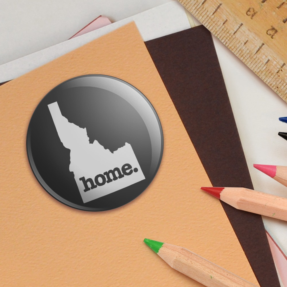 Idaho ID Home State Solid Dark Gray Puffy Bubble Scrapbooking Sticker Set