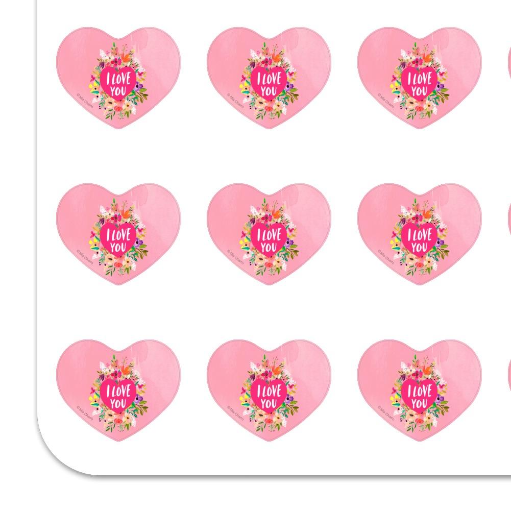 I Love You Flower Heart Wreath Heart Planner Scrapbook ...